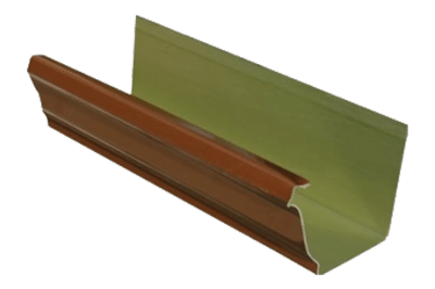 Copper Painted Gutters